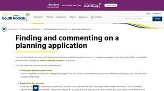 South Norfolk Planning Portal