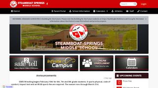 Steamboat Springs Middle School Parent Portal