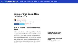 Summertime Saga Pink Channel Login