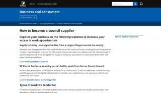Surrey County Council Tender Portal
