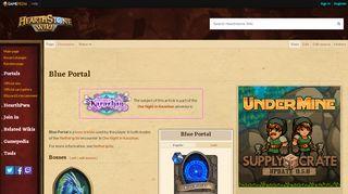The Blue Portal Hearthstone