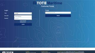Tote Maritime Customer Portal