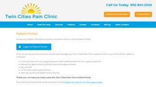 Twin Cities Pain Clinic Patient Portal