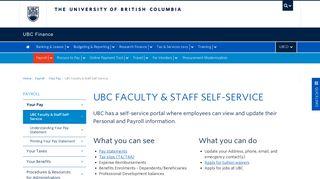 Ubc Self Service Portal
