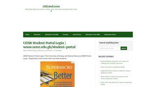 Uenr Student Portal Login