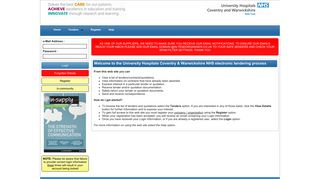 Uhcw E Rostering Login