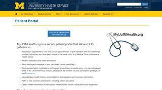 Umich Health Portal