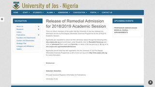Unijos Remedial Portal