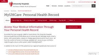 University Hospitals Of Cleveland Patient Portal