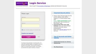 University Of Manchester Student Portal