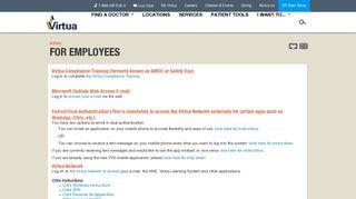 Virtua Employee Portal