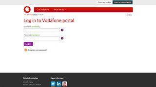 Vodafone Corporate Login Ess Portal