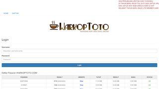 Warkoptoto Login - Find Official Portal