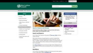 West Lothian Library Portal
