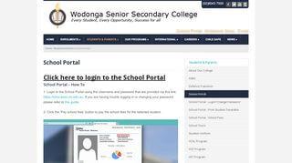 Wodonga Senior Secondary College Portal