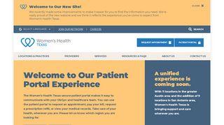 Women's Health Texas Patient Portal - Find Official Portal