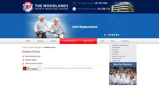 Woodlands Sports Medicine Patient Portal