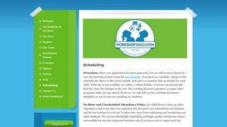 Workshop Education Parent Portal