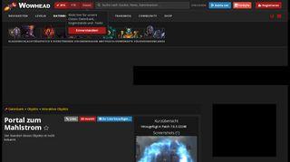 Wow Mahlstrom Portal