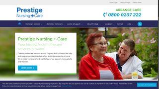 Www Prestige Nursing Co Uk Members Portal