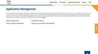 Yale Nus Application Portal
