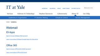 Yale Webmail Portal