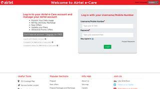Airtel E Portal Login