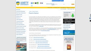 Amity Parent Section Login