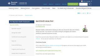 Baystate Health Employee Login