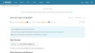 Bridgeapp Login