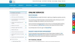 City Of Hope Patient Portal
