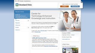 Cleveland Clinic Comet Training Login