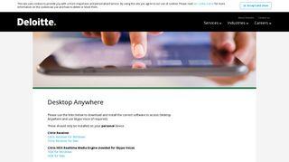 Deloitte Desktop Anywhere Login