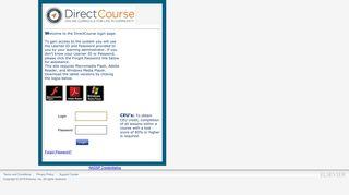 Direct Course Elsevier Login