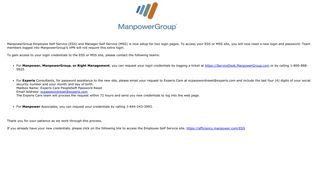 Ess Manpowergroup Login