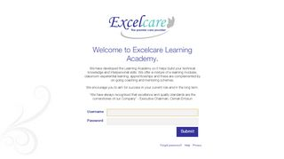 Excelcare Academy Learning Pool Login