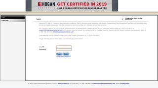 Hogan Assessment Participant Login