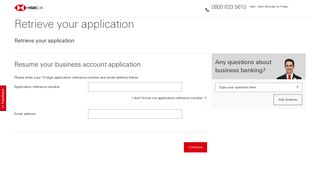 hsbc business account application time