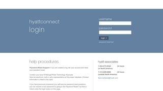 Hyattconnect Hyatt Network Login Password