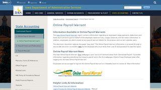 Iowa Payroll Warrant Login