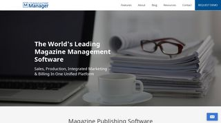 Magazine Manager Login Page