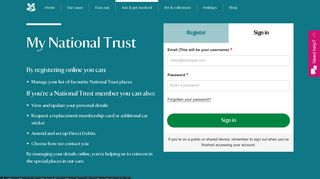 Myplace National Trust Login