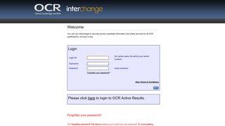 Ocr Interchange Login And Password
