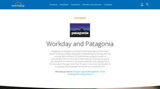 Patagonia Workday Login