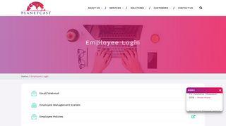 Planetcast Employee Login
