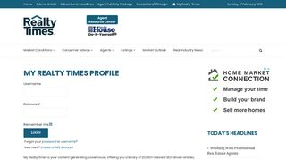 Realty Times Login