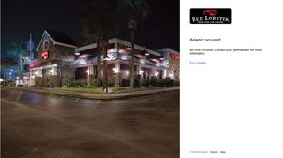 Red Lobster Employee Login Page