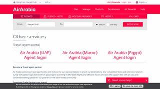Reservation Air Arabia Agent Login