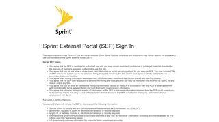 Sprint Employee Self Service Login