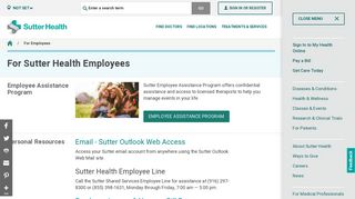 Sutter Health Employee Email Login